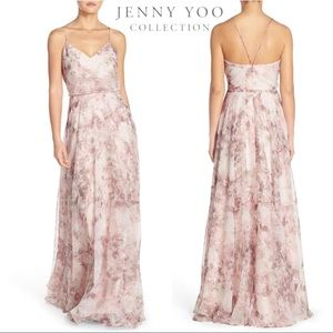 Jenny Yoo Inesse Watercolor Lavender Floral Dress